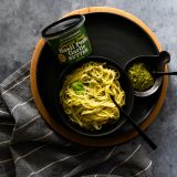 Basil Pesto and Garlic Pasta
