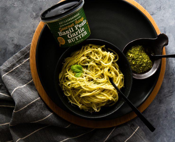 Basil Pesto and Garlic Pasta