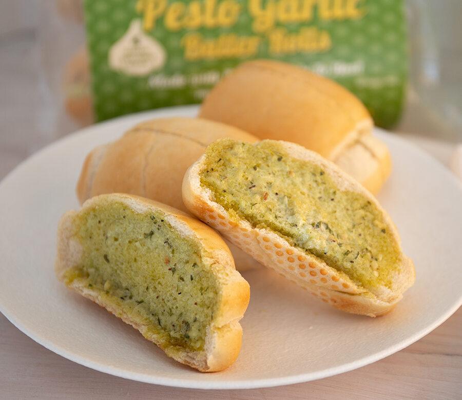 4 Pack Basil Pesto Garlic Butter Rolls